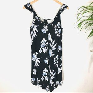 NWT Lush Ribbed Knit Floral print Tunic Dress